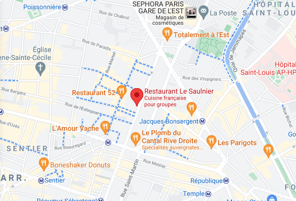 Photo map le restaurant le saulnier paris