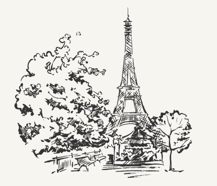 illustration dessin paris restaurant le saulnier