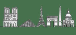 illustration paris monument restaurant le saulnier